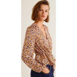 Mango - Bluzka Bichin. Różowe bluzki damskie Mango, z materiału, casualowe, z krótkim rękawem. Za 139.90 zł.