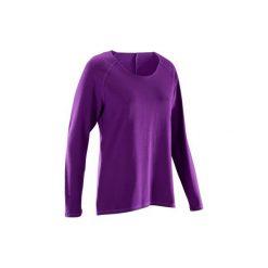 Koszulka do jogi długi rękaw YOGA 100. T-shirty damskie marki DOMYOS. W wyprzedaży za 29.99 zł.