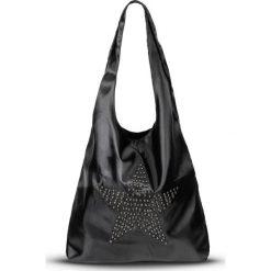 Torebka shopper z ćwiekami bonprix czarno-srebrny kolor. Czarne torebki shopper damskie bonprix. Za 37.99 zł.
