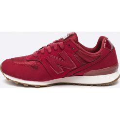 New Balance - Buty WR996SKH. Czerwone obuwie sportowe damskie New Balance, z materiału. W wyprzedaży za 239.90 zł.