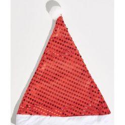Czapka Mikołaja - Czerwony. Czerwone czapki i kapelusze damskie Sinsay. Za 7.99 zł.