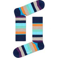 Happy Socks - Skarpety Stripe. Szare skarpety męskie Happy Socks, z bawełny. W wyprzedaży za 27.90 zł.