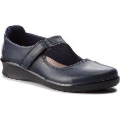 Półbuty CLARKS - Hope Henley 261371774 Navy Leather. Niebieskie półbuty damskie Clarks, z materiału. W wyprzedaży za 229.00 zł.