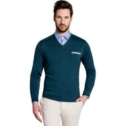Sweter DARIO SWZ000021. Brązowe swetry przez głowę męskie Giacomo Conti, z wełny. Za 229.00 zł.