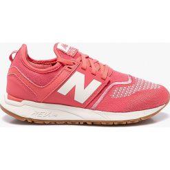 New Balance - Buty WRL247TF. Różowe obuwie sportowe damskie New Balance, z materiału. W wyprzedaży za 299.90 zł.