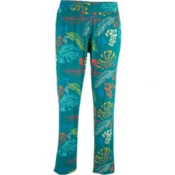 Spodnie z dżerseju z wygodnym paskiem bonprix kobaltowy turkusowy z nadrukiem. Niebieskie spodnie materiałowe damskie bonprix, z nadrukiem, z dżerseju. Za 37.99 zł.