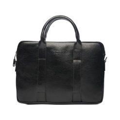 Torba Solier Skórzana czarna męska torba na laptopa Solier William. Czarne torby na laptopa męskie Solier. Za 399.00 zł.