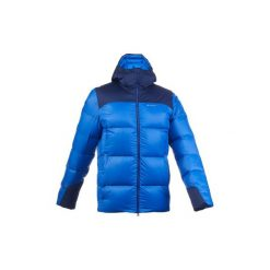 Kurtka trekkingowa Trek 900 Warm męska. Niebieskie kurtki męskie FORCLAZ, z elastanu. Za 399.99 zł.