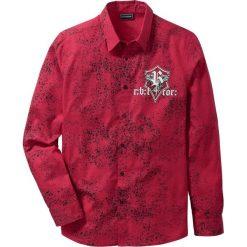 Koszula z długim rękawem Slim Fit bonprix ciemnoczerwony z nadrukiem. Koszule męskie marki Giacomo Conti. Za 79.99 zł.