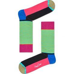 Happy Socks - Skarpety Half Stripe. Czarne skarpety męskie marki Giacomo Conti, z bawełny. W wyprzedaży za 29.90 zł.