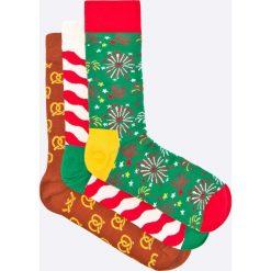 Happy Socks - Skarpetki Xmas (3-pack). Białe skarpety damskie Happy Socks, z bawełny. W wyprzedaży za 79.90 zł.
