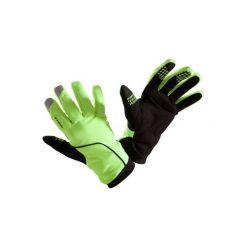 Rękawiczki na rower 500 zimowe. Żółte rękawiczki damskie B'TWIN, na zimę, z materiału. Za 59.99 zł.
