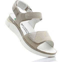 Wygodne sandały skórzane bonprix piaskowy. Sandały damskie marki bonprix. Za 189.99 zł.