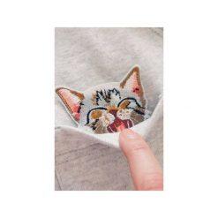 Bluza raglan kieszonka kotek złośnik. Szare bluzy damskie One mug a day, z aplikacjami, z bawełny. Za 139.00 zł.