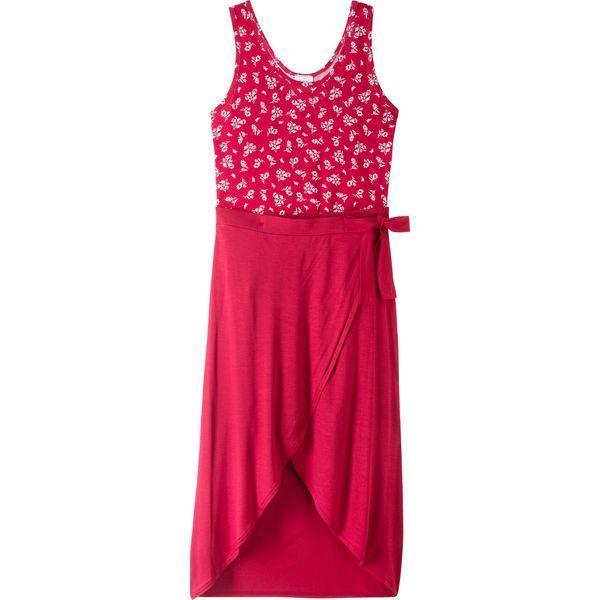 2e6568b5 Letnia sukienka z długą spódnicą bonprix czerwony z nadrukiem