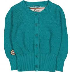 """Kardigan """"The Locomotion"""" w kolorze turkusowym. Swetry dla dziewczynek marki bonprix. W wyprzedaży za 82.95 zł."""