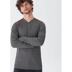 Sweter z guzikami - Szary. Swetry przez głowę męskie marki Giacomo Conti. W wyprzedaży za 59.99 zł.