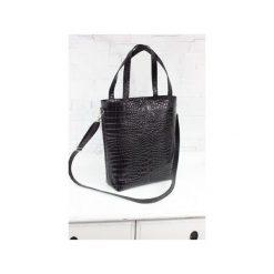 Skórzana Shopper Verona czarny krokodyl. Czarne torebki shopper damskie Fabiola, w paski, ze skóry. Za 275.00 zł.