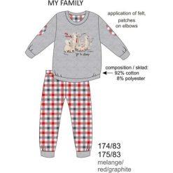 Piżama chłopięca DR 175/83 My family Melanż szara r. 152. Szare bielizna dla chłopców Cornette, melanż. Za 60.57 zł.