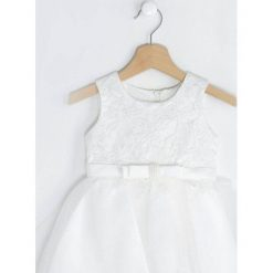 Biała Sukienka Merida. Białe sukienki niemowlęce Born2be, z bawełny. Za 84.99 zł.