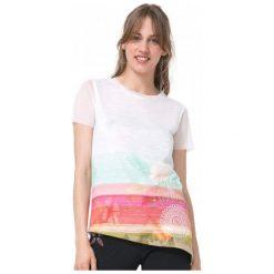 Desigual T-Shirt Damski Asimetric Polynesia M Biały. Białe t-shirty damskie Desigual. W wyprzedaży za 229.00 zł.