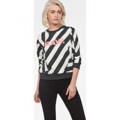 G-Star Raw - Bluza. Szare bluzy damskie G-Star Raw, z nadrukiem, z bawełny. Za 419.90 zł.