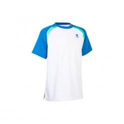 T-Shirt 500 Jr biały. Białe t-shirty męskie ARTENGO, z elastanu. W wyprzedaży za 24.99 zł.