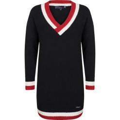 Sweter w kolorze czarnym. Czarne swetry damskie Giorgio di Mare, ze splotem. W wyprzedaży za 152.95 zł.