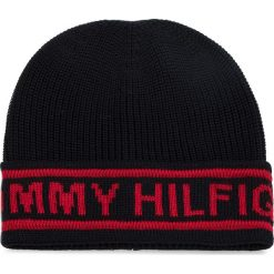 Czapka TOMMY HILFIGER - Selvege Knit Beanie AM0AM03986 413. Czarne czapki i kapelusze męskie Tommy Hilfiger. Za 179.00 zł.