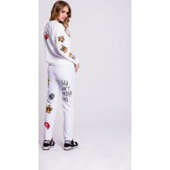 Naoko - Bluza Wild Wish. Szare bluzy damskie NAOKO, z nadrukiem, z bawełny. W wyprzedaży za 169.90 zł.