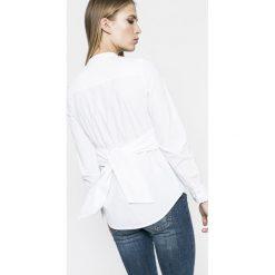 Vero Moda - Bluzka Juljane. Szare bluzki damskie Vero Moda, z bawełny, casualowe, ze stójką, z krótkim rękawem. W wyprzedaży za 69.90 zł.