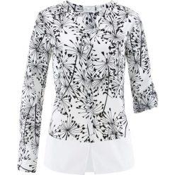 Bluzka z nadrukiem bonprix biało-czarny z nadrukiem. Bluzki damskie marki Colour Pleasure. Za 32.99 zł.