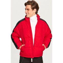 Pikowana kurtka ze stójką - Czerwony. Czerwone kurtki męskie Reserved. Za 169.99 zł.