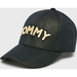 Tommy Hilfiger - Czapka. Czarne czapki i kapelusze damskie Tommy Hilfiger, z bawełny. Za 179.90 zł.