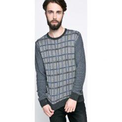 Trussardi Jeans - Sweter. Szare swetry przez głowę męskie TRUSSARDI JEANS, z dzianiny, z okrągłym kołnierzem. W wyprzedaży za 359.90 zł.