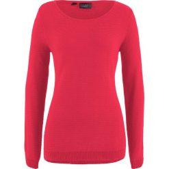 Sweter bonprix czerwony. Czerwone swetry damskie bonprix. Za 54.99 zł.