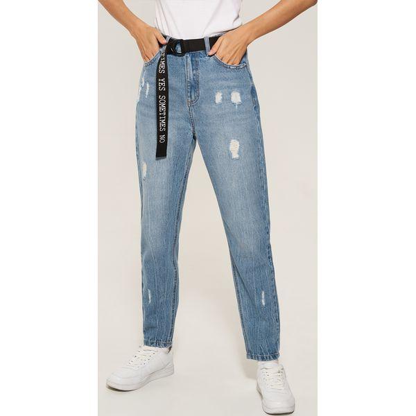e17f3e0d317ac Mom Paskiem Z Jeans Z Paskiem Z Niebieski Niebieski Niebieski Jeans Mom Z  Mom Mom Jeans ...