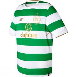 Koszulka Celtic F.C.Home Kit. Szare koszulki sportowe męskie New Balance, na jesień, z materiału. W wyprzedaży za 199.99 zł.