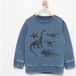Bluza z dinozaurami - Granatowy. Bluzy dla chłopców Reserved. W wyprzedaży za 19.99 zł.
