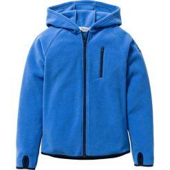 Bluza z polaru z kontrastowymi elementami bonprix lodowy niebieski - ciemnoniebieski. Bluzy dla chłopców bonprix, z polaru. Za 74.99 zł.
