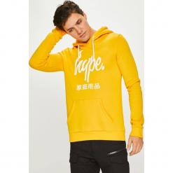Hype - Bluza. Żółte bluzy męskie Hype, z nadrukiem, z bawełny. Za 189.90 zł.
