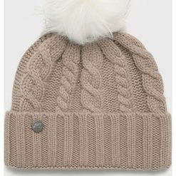 New Balance - Czapka. Szare czapki i kapelusze damskie New Balance, z dzianiny. W wyprzedaży za 129.90 zł.