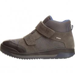 Sneakersy w kolorze szaro-niebieskim. Szare trampki i tenisówki chłopięce Primigi, z gore-texu. W wyprzedaży za 195.95 zł.