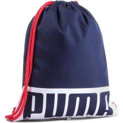 Plecak PUMA - Deck Gym Sack 074961 Peacoat. Niebieskie plecaki damskie Puma, z materiału, sportowe. Za 59.00 zł.