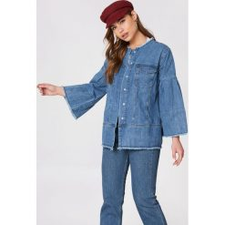 NA-KD Kurtka dżinsowa z szerokim rękawem - Blue. Niebieskie kurtki damskie NA-KD. W wyprzedaży za 129.58 zł.