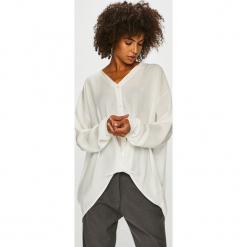 Answear - Koszula. Szare koszule damskie ANSWEAR, z poliesteru, casualowe, z długim rękawem. Za 119.90 zł.