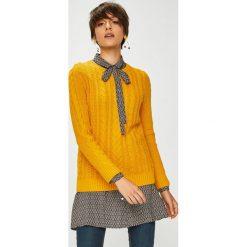 Medicine - Sweter Basic. Brązowe swetry damskie MEDICINE, z bawełny, z okrągłym kołnierzem. W wyprzedaży za 71.90 zł.
