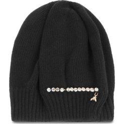 Czapka PATRIZIA PEPE - 2V8388/A3IP-I2XH  Black/Shiny Crystal. Czarne czapki i kapelusze damskie Patrizia Pepe, z kaszmiru. Za 289.00 zł.