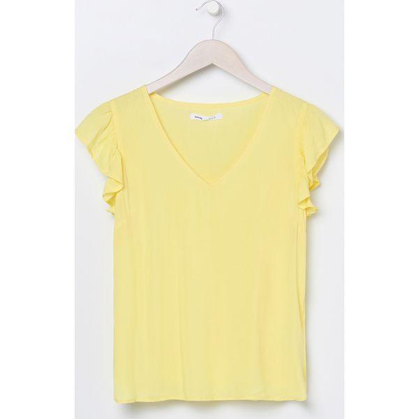 Bluzka z zamkiem Żółty Żółte bluzki damskie Sinsay, l