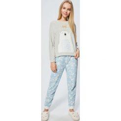 Ciepła piżama - Jasny szary. Piżamy damskie marki bonprix. W wyprzedaży za 69.99 zł.